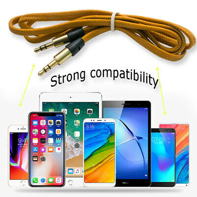 2x 3 FT 3.5mm Auxiliary Aux Male to Male Stereo Audio Cable Cord iPod Car MP3 PC