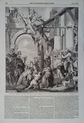 """1856 Print """"The Adoration Of The Magi"""" Painted By Paul Veronese"""