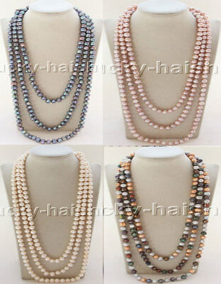 length 11mm white purple peacock black Multicolor pearls necklace j12069-6