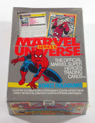 1991 Marvel Universe Series 2 Trading Card Factory Sealed Box (36 Packs)