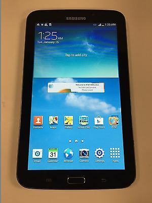 """Samsung Galaxy Tab 3 7.0"""" 16GB Android Tablet WiFi+AT&T LTE Dual Core SM-T217A B"""