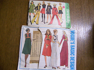Vintage 1960's Sewing Pattern Lot For Women's Sz 7/8 Clothes