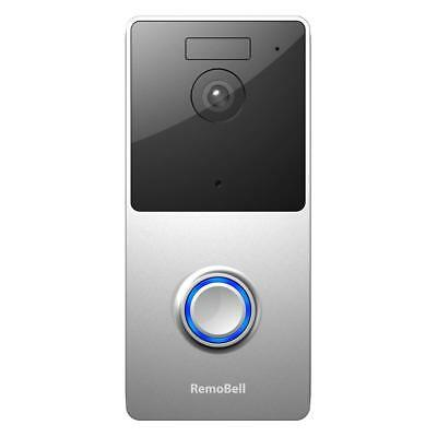remo+ RemoBell WiFi Wireless Video Doorbell Battery Powered, Night Vision, 2-Way