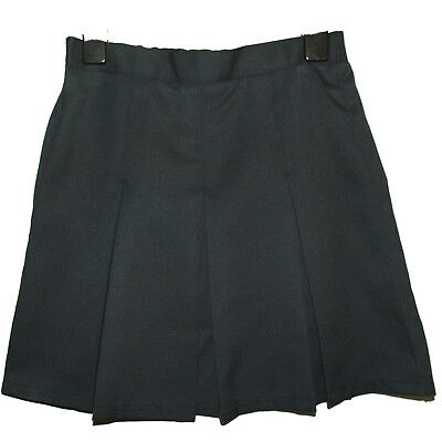 NEW GIRLS EX STORE NAVY BOX PLEATED ADJUSTABLE BACK TO SCHOOL SKIRT AGE 5-12yr N