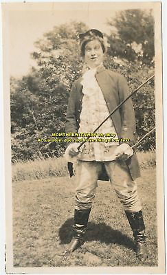 1908 Photo Wheaton College Norton MA Girl Student Theatre Costume Tony Lumpkin