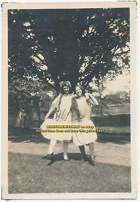 1908 Photo Wheaton College Norton MA Pretty Girls Baby Child Costumes Long Hair