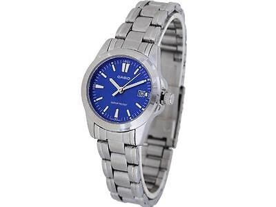 Casio LTP1215A-2A2 Ladies Analog Stainless Steel Dress Watch Blue Dial Quartz
