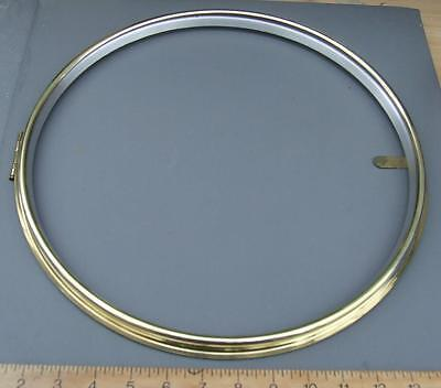 27/2 replacement   12 inch bezel for wall clock with sight ring, hinge and catch