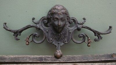SUPERB 19thc ARCHITECTURAL BRONZE FIXTURE OF A FEMALE HEAD C.1870's