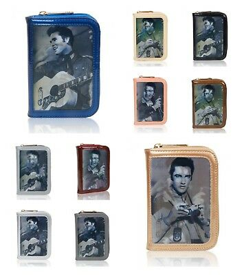 New Women's Ladies Celebrity 3 D Picture Purse Wallet Elvis Presley Singing Star