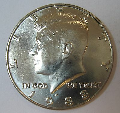 1988-P John F Kennedy Clad Half Dollar Choice BU Condition From Mint Set  DUTCH