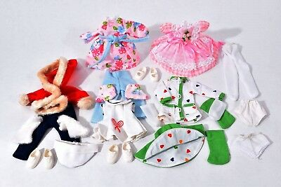 """Vintage 1960s 5-7"""" Outfits DOLL Clothes DRESS Pajamas TENNIS Jackets SHOES Socks"""