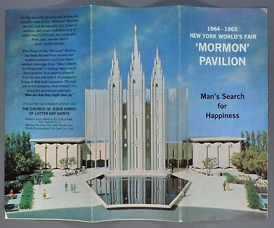 1964-1965 New York World's Fair Mormon Pavilion Color Brochure