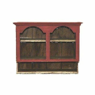 Dollhouse Sir Thomas Thumb Red Wood Hanging Country Cupboard 1:12 Miniature