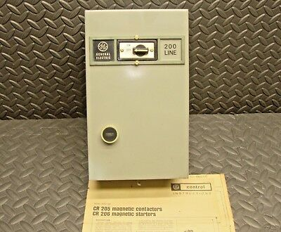 NEW General Electric CR206A100FWA Enclosed Contactor Starter GE On Off Enclosure