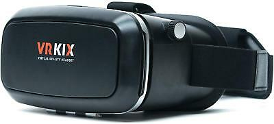 VRKiX Virtual Reality 3D Glasses, VR Headset for 360 Degree Viewing in with app,