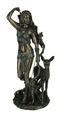 Artemis Goddess of Hunting and Wilderness Bronze Finished Statue
