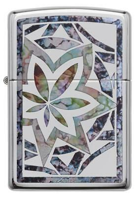Zippo 29727, Marijuana Leaf, HP Chrome Fusion Lighter, Pipe Insert (PL)