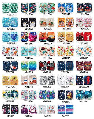 30pcs ALVA Baby Cloth Diapers One Size Reusable Washable Nappies Lot + 30Inserts
