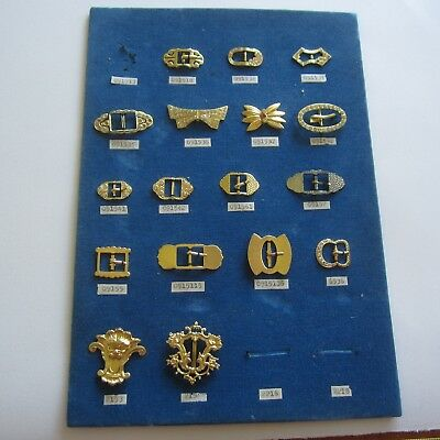 Vintage Couture Buckles 1940s 1950s Exquisite Manufacturers Sample Card Rare