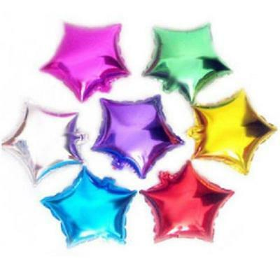 "10PCS 10"" Foil Helium Star Balloons Ballons Party Birthday Wedding Decoration CH"