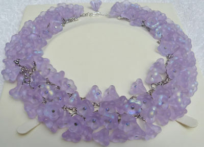 Necklace - Bell Shape Necklace  /choker  Beautiful Piece-Glass Rare