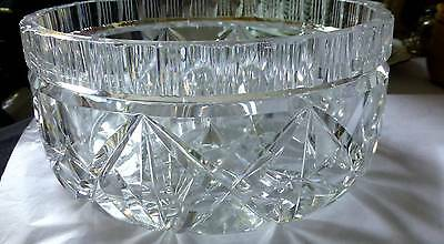 Art Deco Stunning crystaL heavy large bowl - simply luxurious LOVELY GIFT