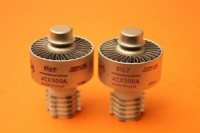 Eimac 4Cx300A 8167 - Power Transmitting Tubes - One Pair - Used - Tested