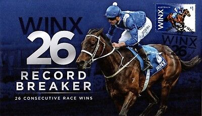 New Winx Record Breaker First Day Cover + Champions Of The Turf First Day Cover
