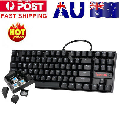 REDRAGON K552 Gaming Mechanical Keyboard Red LED Backlight 87 KeyS Blue Switches