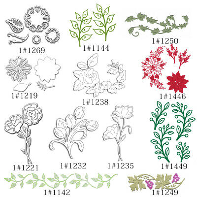 Metal Cutting Dies Flower Floral Stencil Decor Scrapbook Ablum Craft DIY Die-Cut