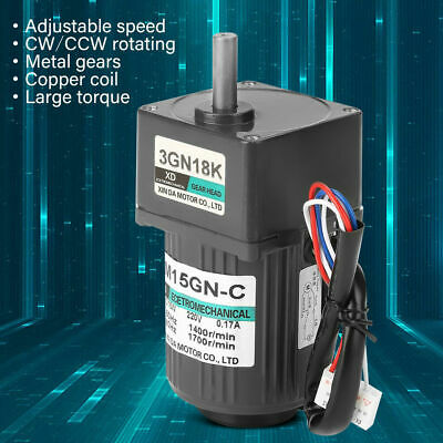 AC220V 15W 3M15GN-C Single Phase Gear Motor Adjustable Speed Motor w/ Governor