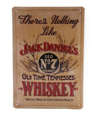 Jack Daniels Theres Nothing Like - Retro Tin Sign - 20 x 30 cm