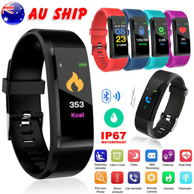 Smart Watch Waterproof Heart Rate Monitor Fitness Activity Tracker Pedometer