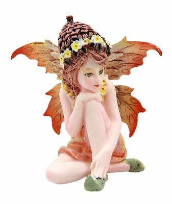 Miniature Autumn Fall Garden Fairy Figurine Statue Small Faery Collection Think