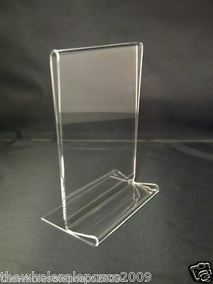 Menu Holder A6 Sign Ticket Holder Coffee Shop Display Clear Acrylic Perspex