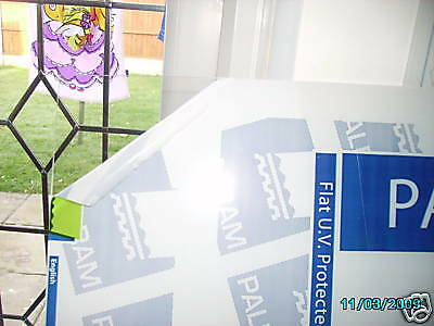 Clear Poly carbonate Plastic Sheet 1 Metre x 1 Metre x 2mm Material UV Protected