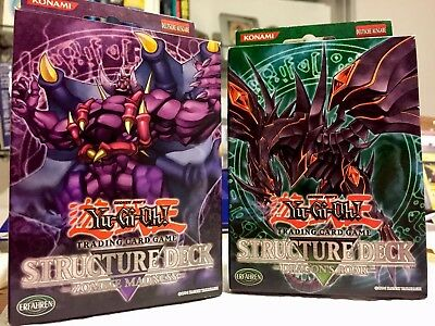 Yugioh Structure Deck Mega Packet Dragons Roar & Zombie Madness!! +BONUS! ! !