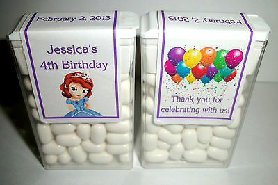 14 Princess Sofia Birthday Party Favors Tic Tac Labels ~ Personalized