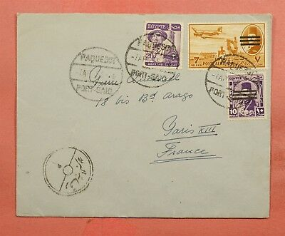 1955 Egypt Paquebot Ss Orcades Ship Port Said To France