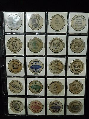 Lot of 20 US Mixed Coin shows Wooden Nickels