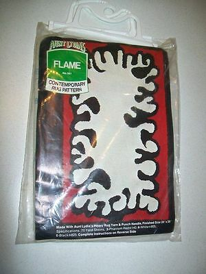 Vintage AUNT LYDIA'S Contempory RUG PATTERN Kit FLAME #301