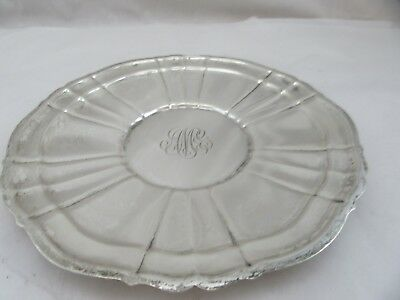 Sterling Silver 925 Round Plate Tray Used 10 inch diameter Gorham Chippendale