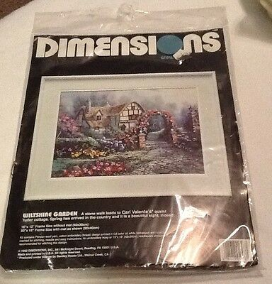 Dimensions Crewel Embroidery Kit WILTSHIRE GARDEN  1992  NIP  New
