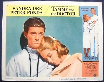 TAMMY AND THE DOCTOR Lobby Card #2 Sandra Dee & Peter Fonda 1963