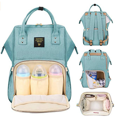 SUNVENO Diaper Bag Backpack Functional Baby Nappy Changing Bag