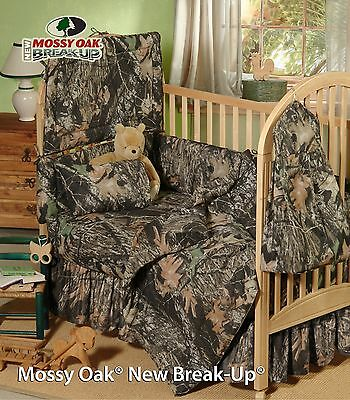 Mossy Oak Camouflage Baby Crib Sheet & Headboard Pad, Toddler Bedding