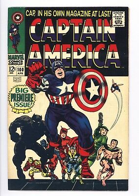 Captain America #100 Vol 1 Near Perfect High Grade Black Panther Appearance
