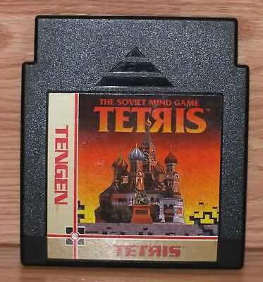 Genuine Tengen: The Soviet Mind Game Tetris (Nintendo NES) Cartridge Only READ