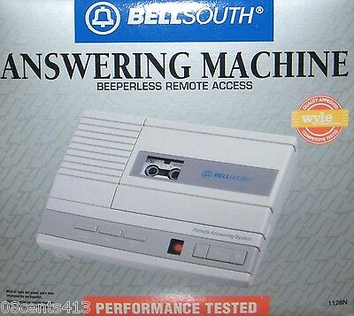 Vintage Bellsouth Micro-Tape Beeperless Remote Access Answering Machine 1128N
